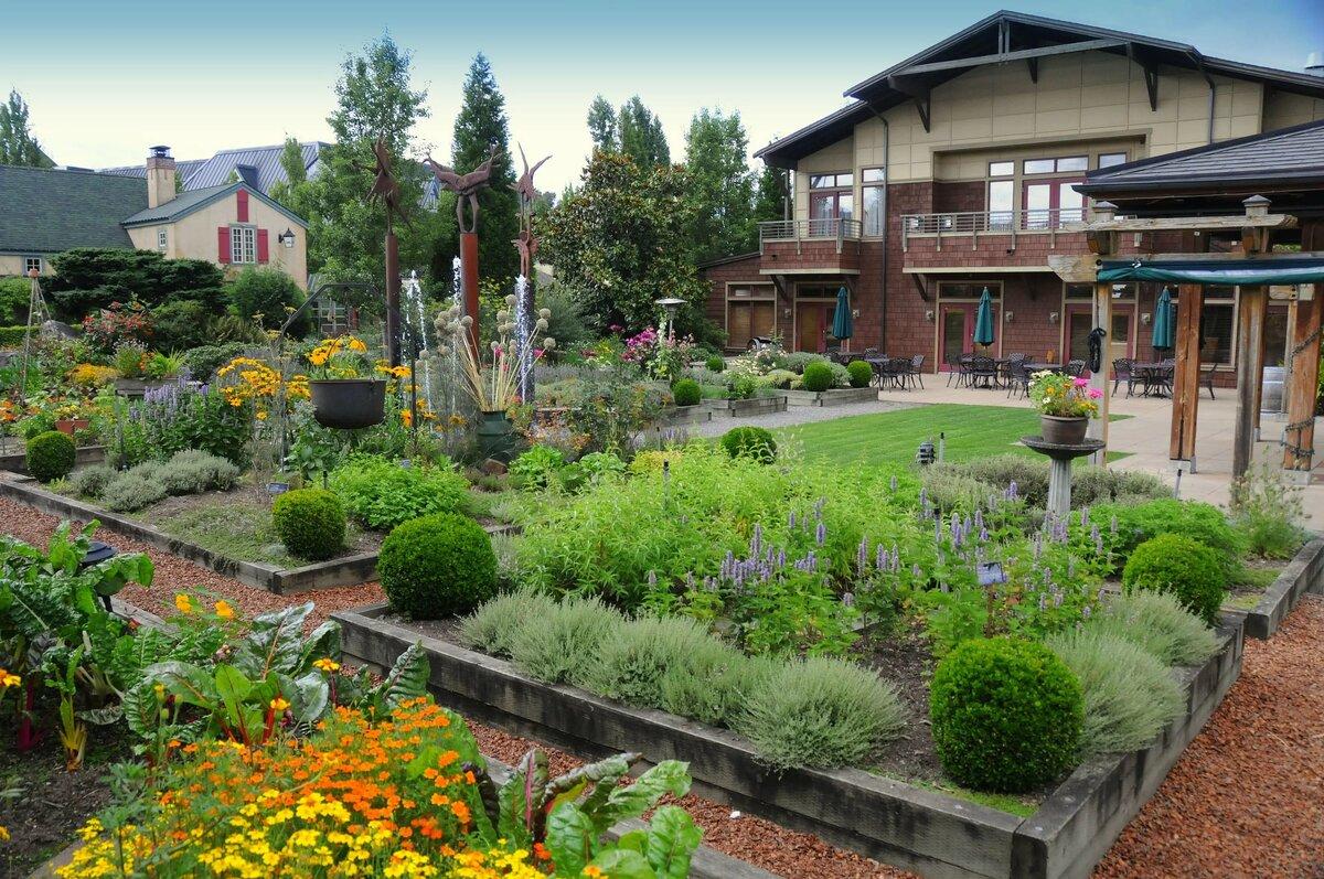 фото ландшафтный сад огород