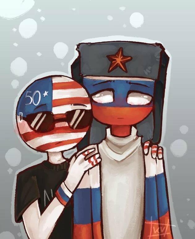 Картинки америки и россии в виде людей