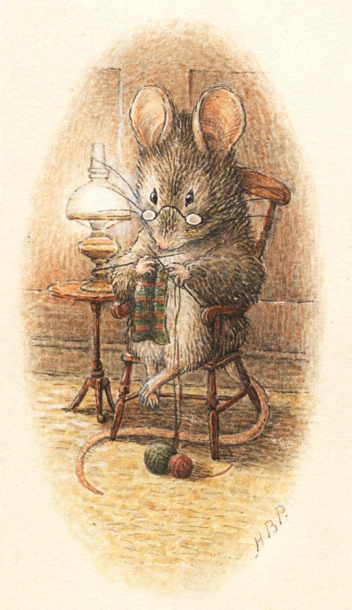 Винтажные открытки мышки