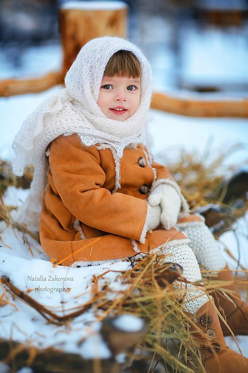 Зимние фото с детьми