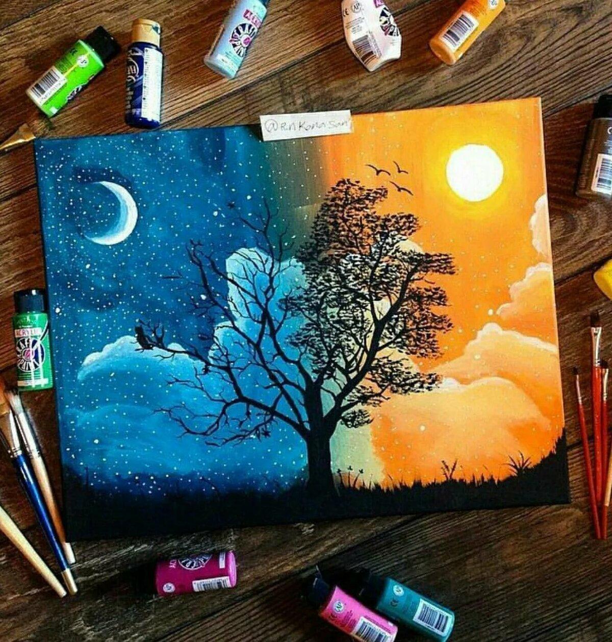 Картинки день и ночь для срисовки, будильника для детей