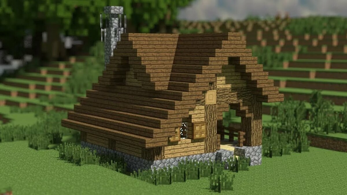 Картинки майнкрафт деревенский дом