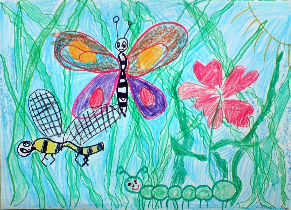 Картинки рисуем насекомых