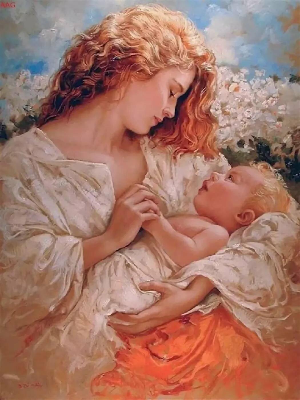 Днем рождения, мать и дитя картинки красивые