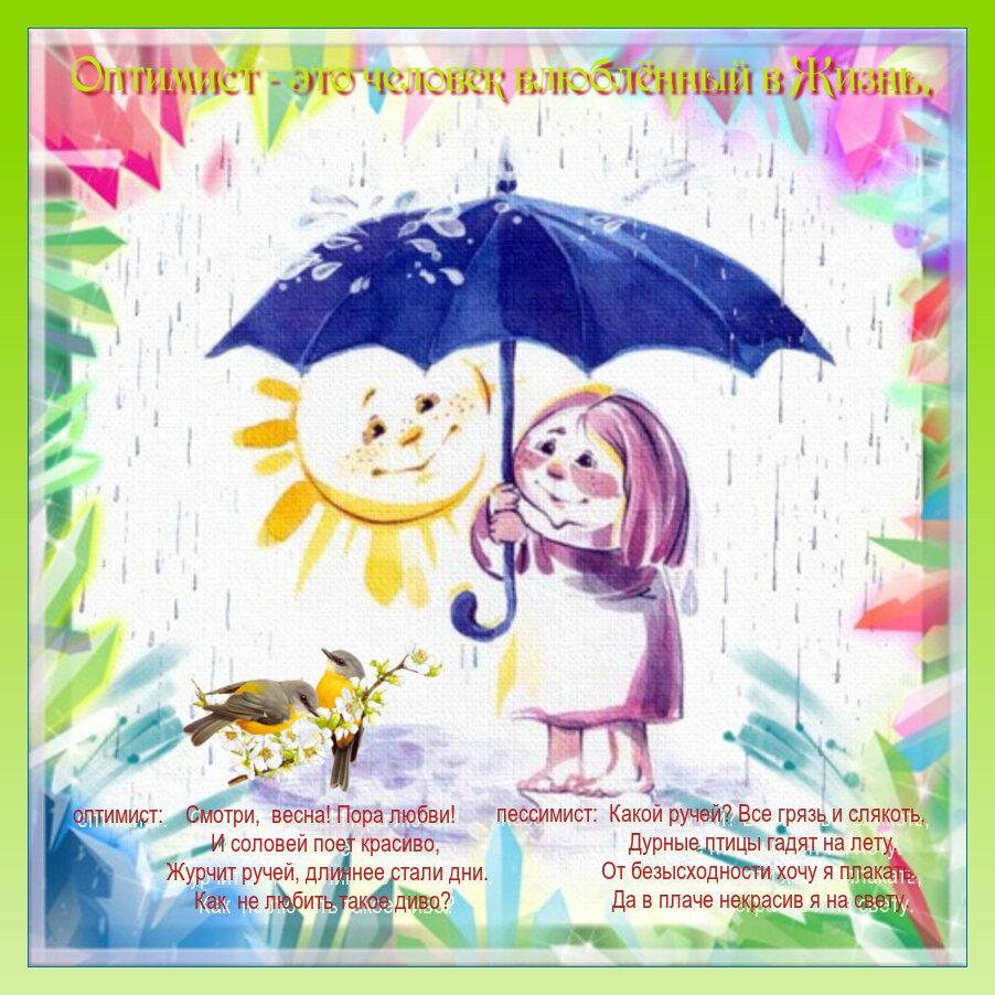 Красивые открытки оптимизм, днем рождения