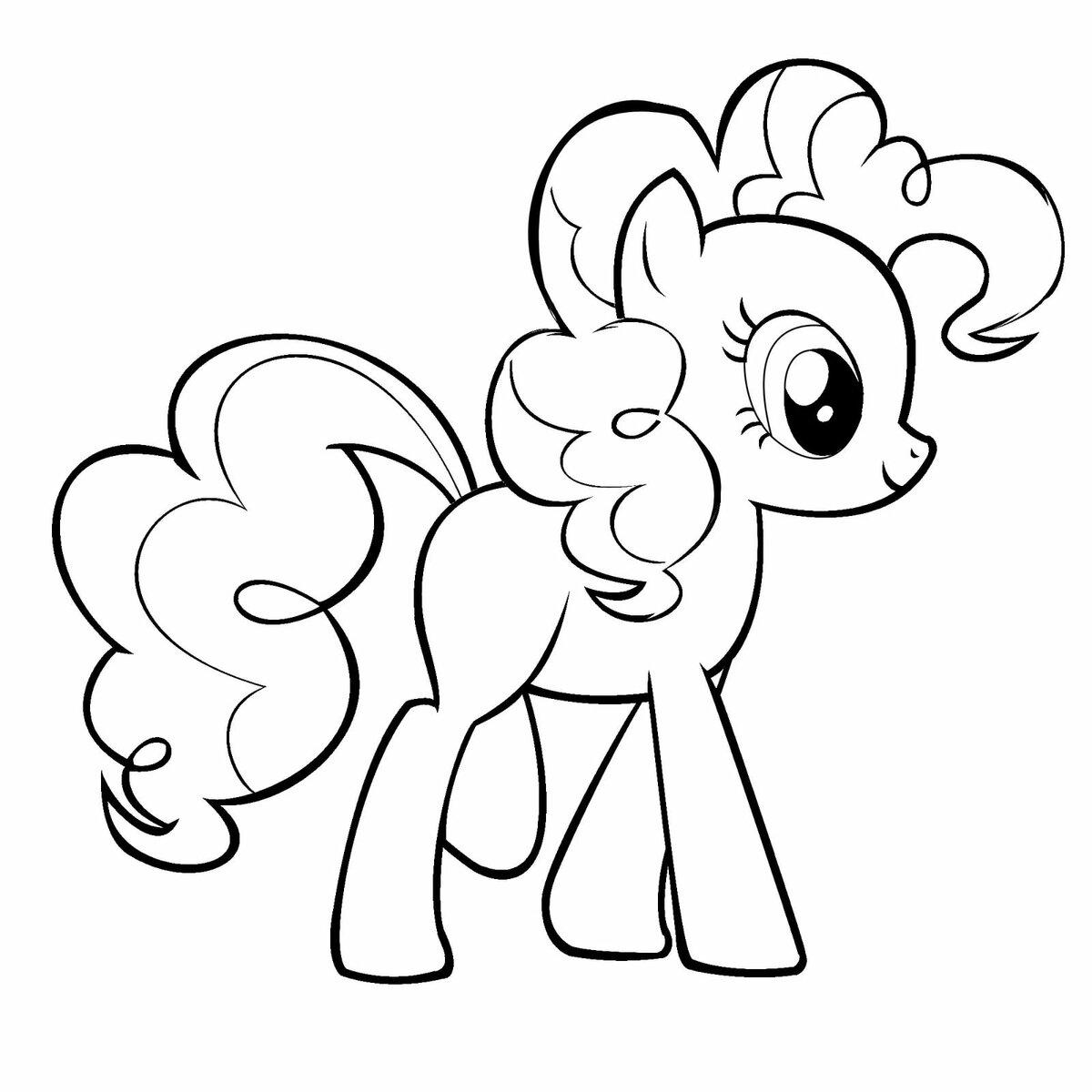 картинки пони для рисования раскрашенные