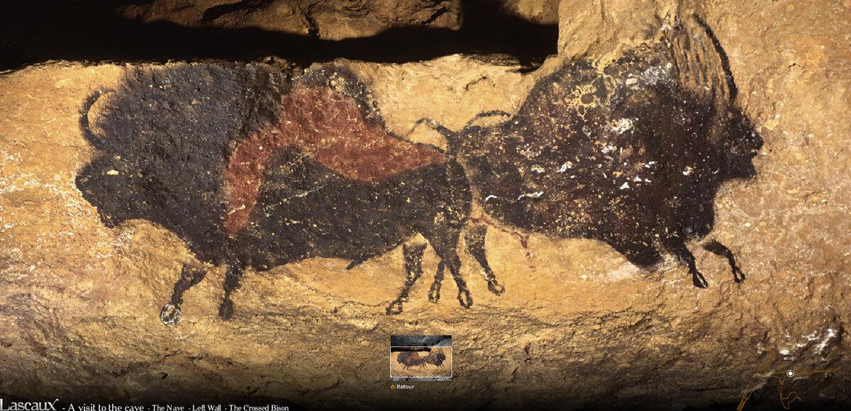 Пещера Ласко. Изображение бизонов