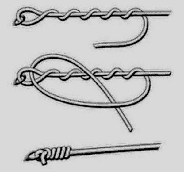 Способы завязывания крючка на леску