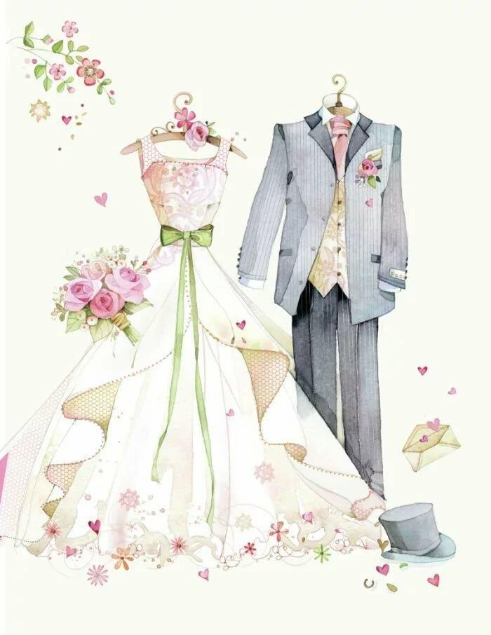 скрап картинки для свадьбы