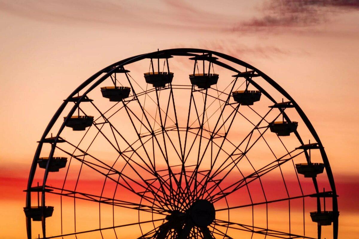 Чертово колесо открытка