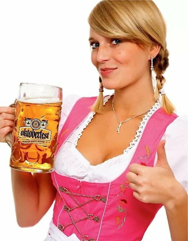 Женщина с пивом картинка