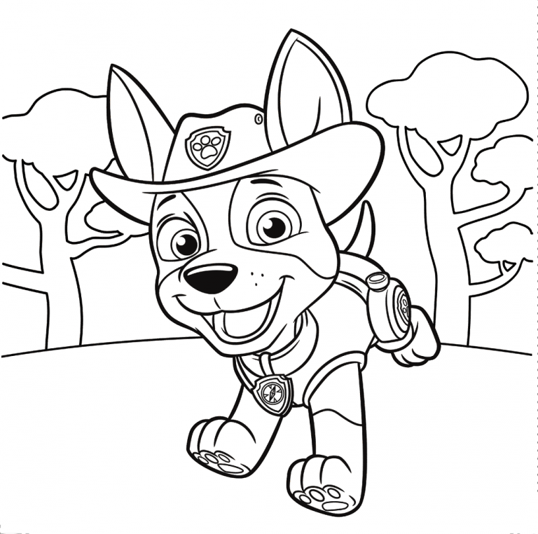 Картинки щенячий патруль контур