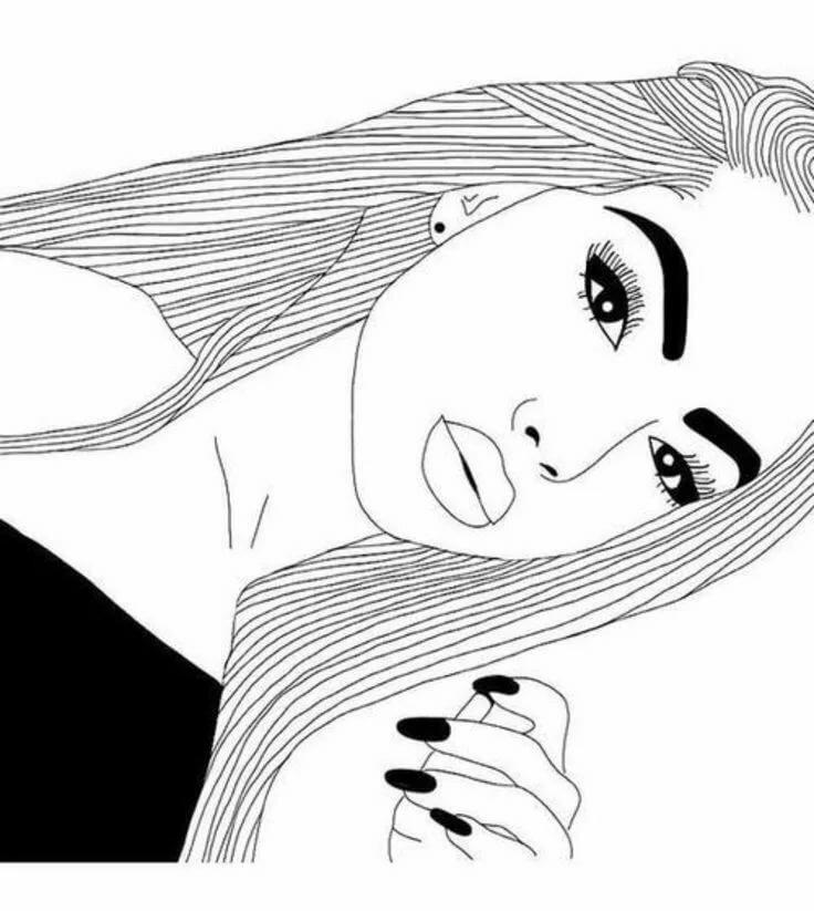 Прикольные картинки для девочек черно белые, вечная память