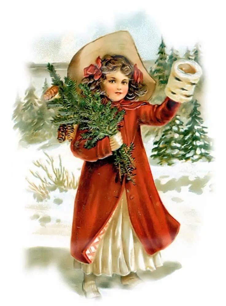 Пустыне для, рождественские открытки для девушек