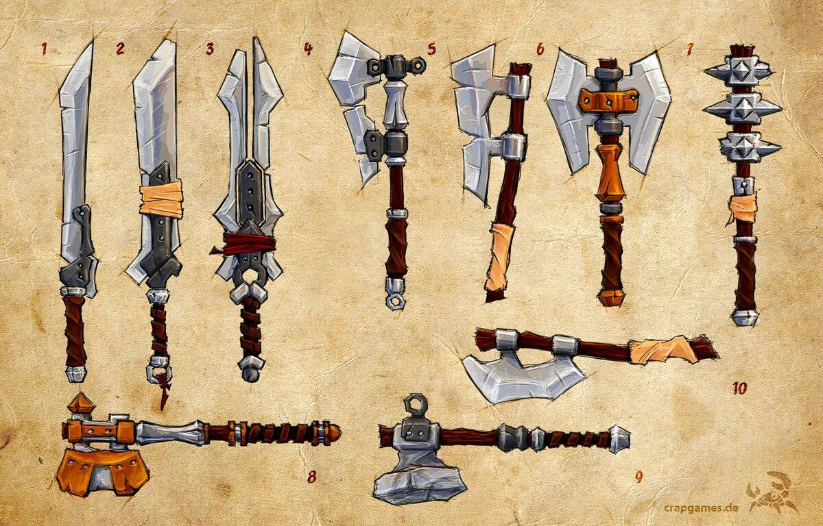 картинки орудий из игр