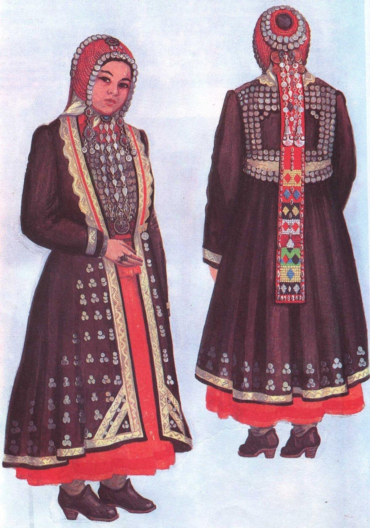Национальные костюмы башкирии картинки