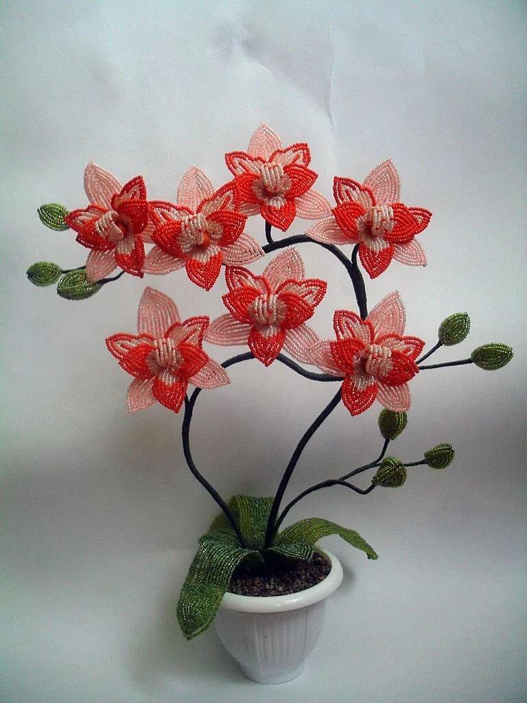 назначили картинка орхидея из бисера этой техники