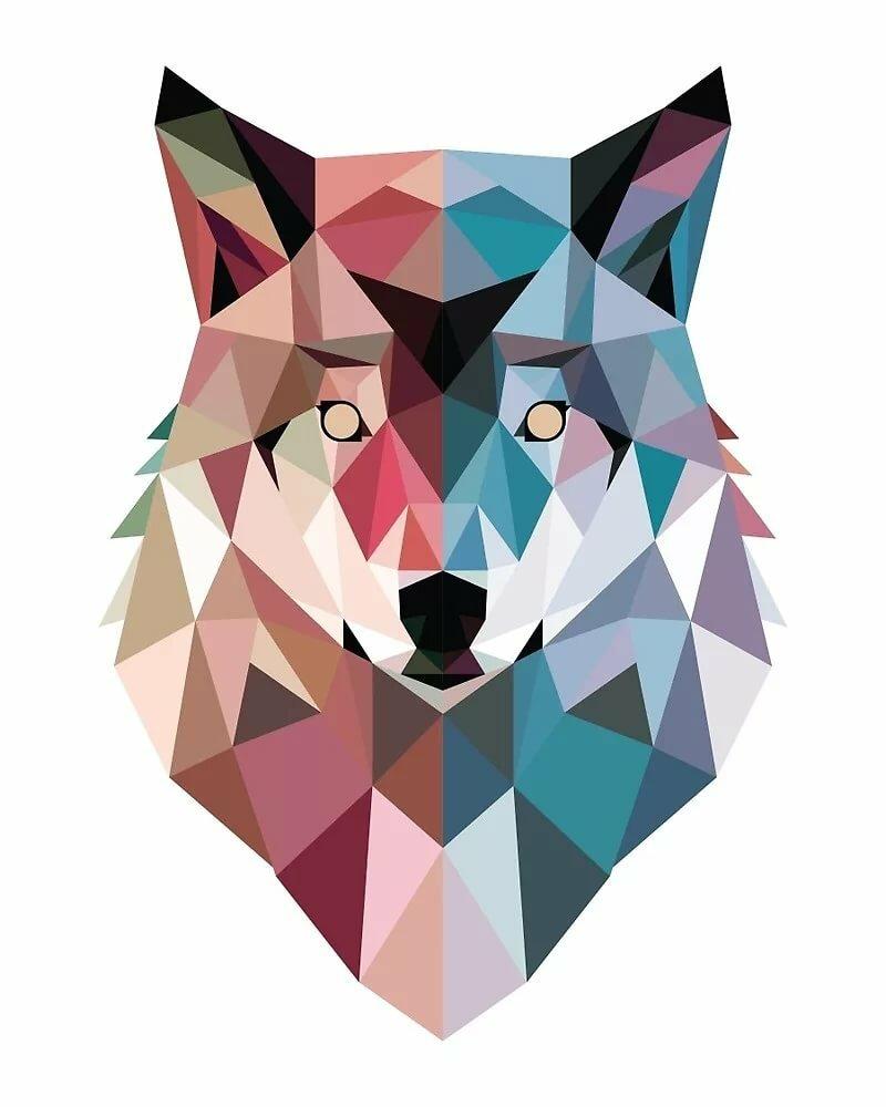 Картинки геометрия животные цветные