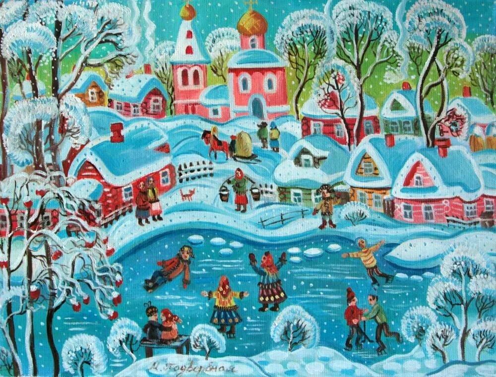 Картинка к составлению рассказа река замерзла