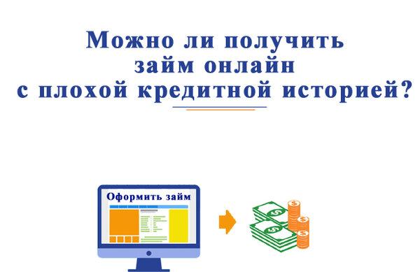 Оформить онлайн заявку на кредит с плохой кредитной историей