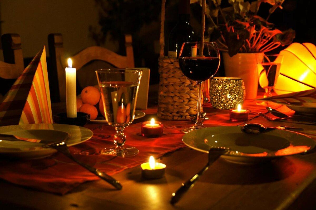 Осень, картинки столик на двоих