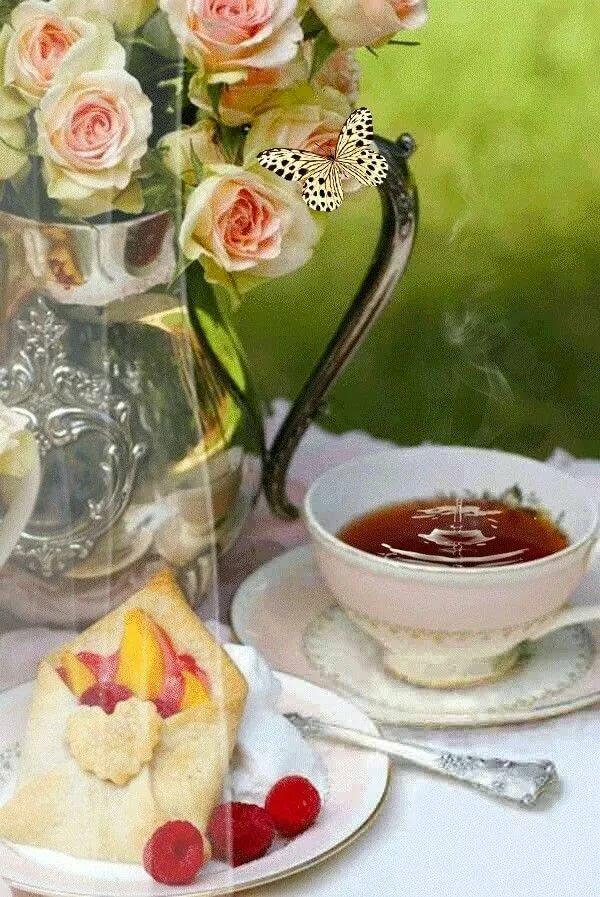 Картинки анимация с добрым утром чай