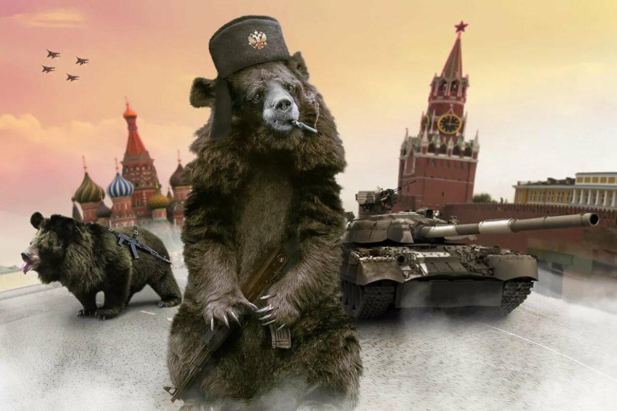 картинка мишка россия радости