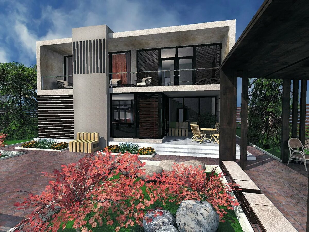 Проекты загородных домов в стиле хайтек фото