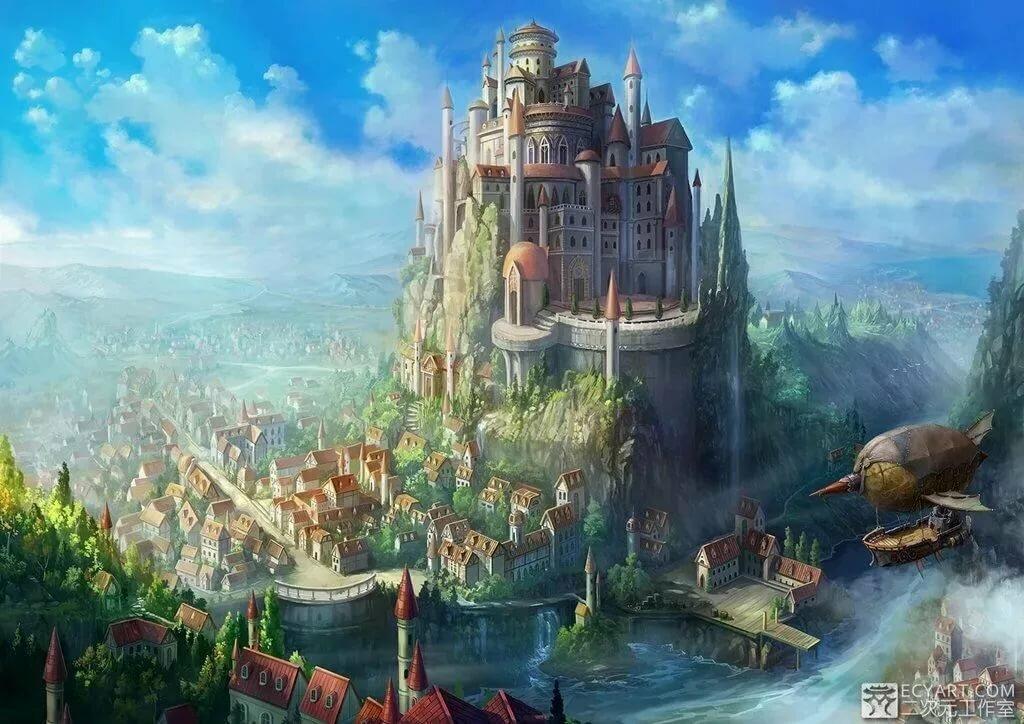 Фэнтези замок картинки красивые