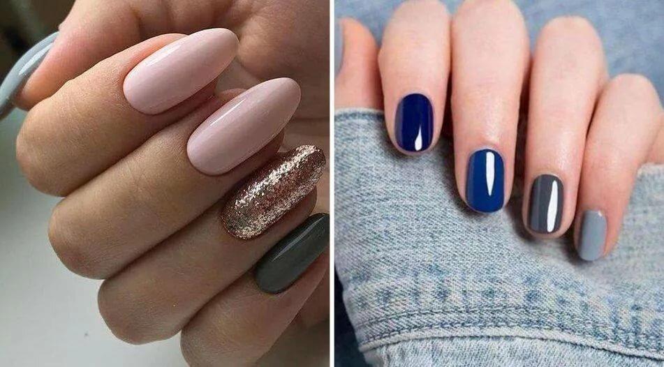 этом ногти разных цветов сочетание фото центре