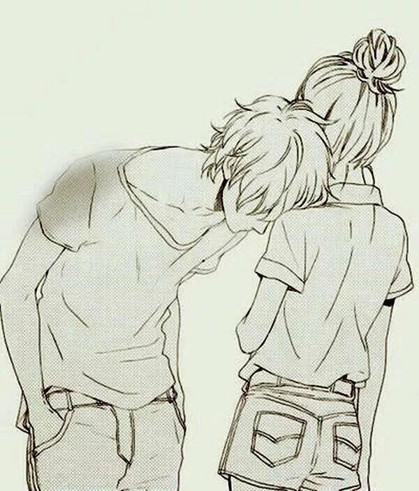 Аниме картинки мальчик девочка поэтапно обнимашки