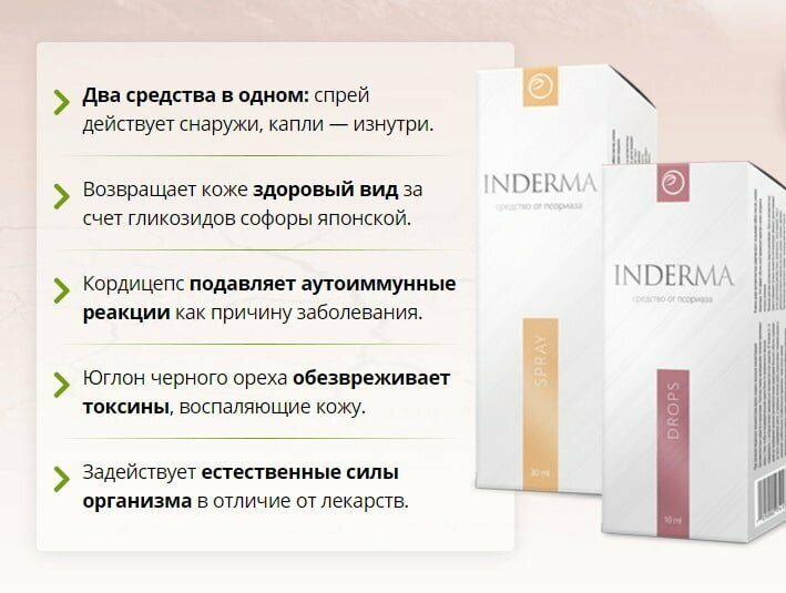 INDERMA от псориаза в Перми