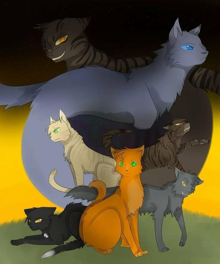 картинки с котами воителями племена