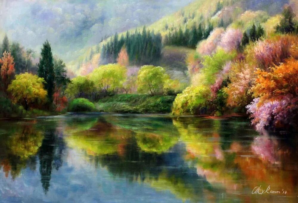 жизнь картины маслом пейзажи картинка большинство его