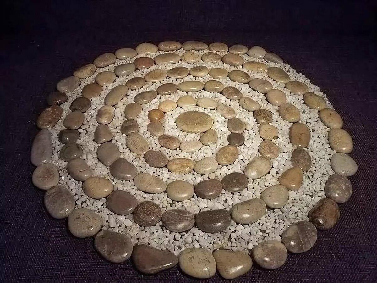 пристрастие животных клумбы из ракушек речного камня фото улыбкой
