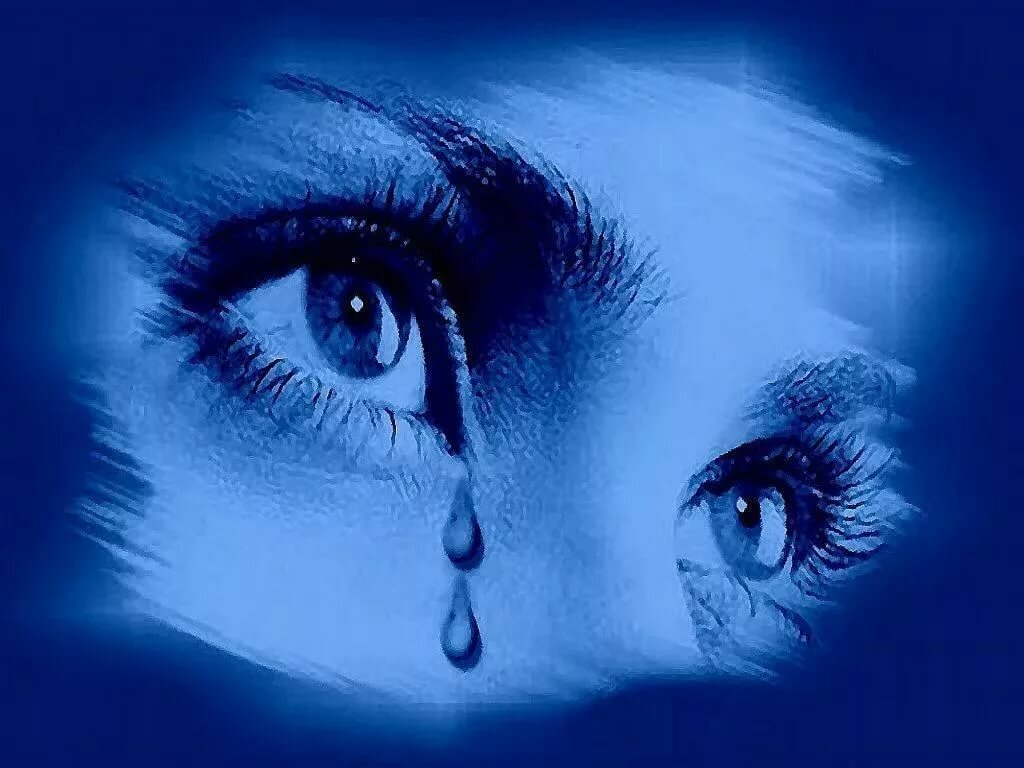Открытка глаза в слезах