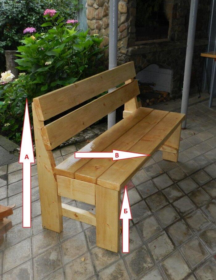 Как самому построить скамейку фото