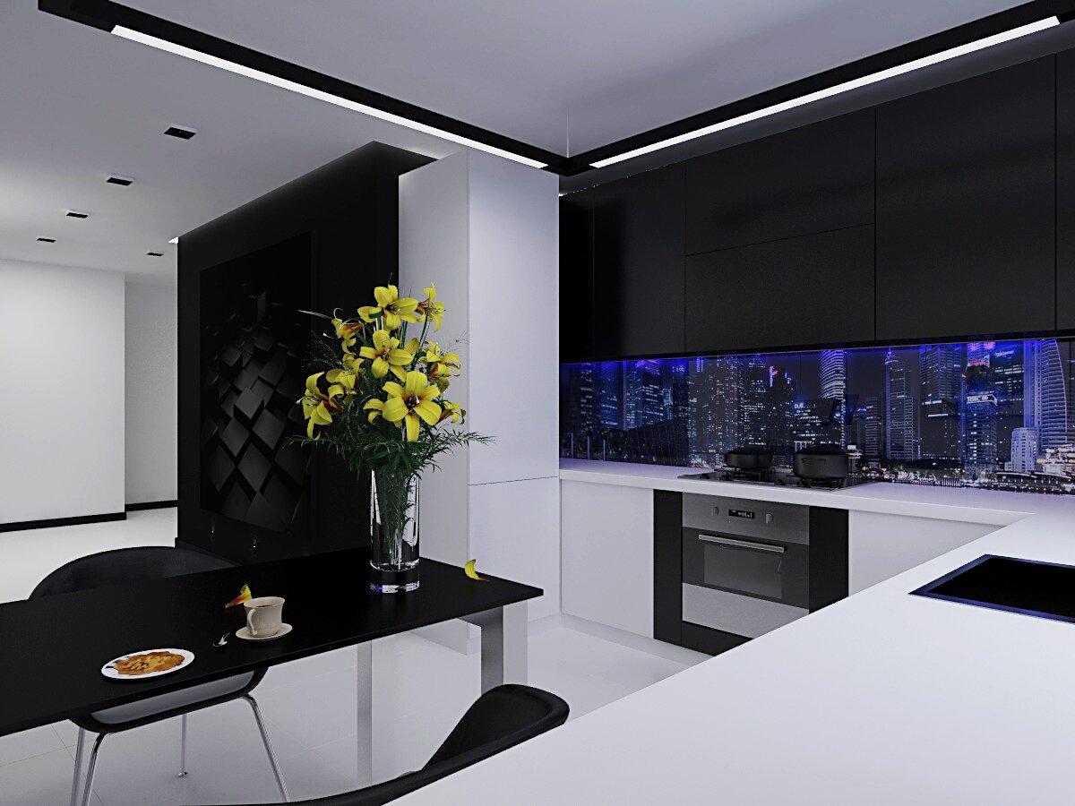 Картинки кухня в черно белом стиле