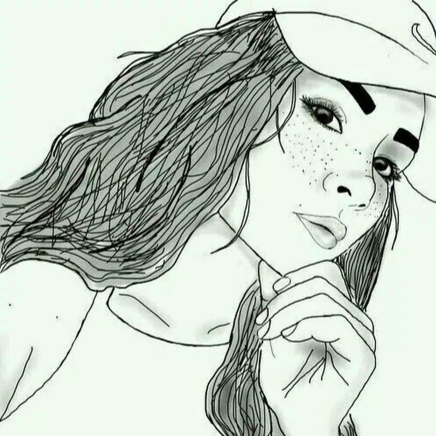 Прикольные картинки карандашом девушек