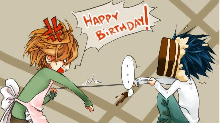 Аниме открытка с днем рождения другу, открытки виде шара
