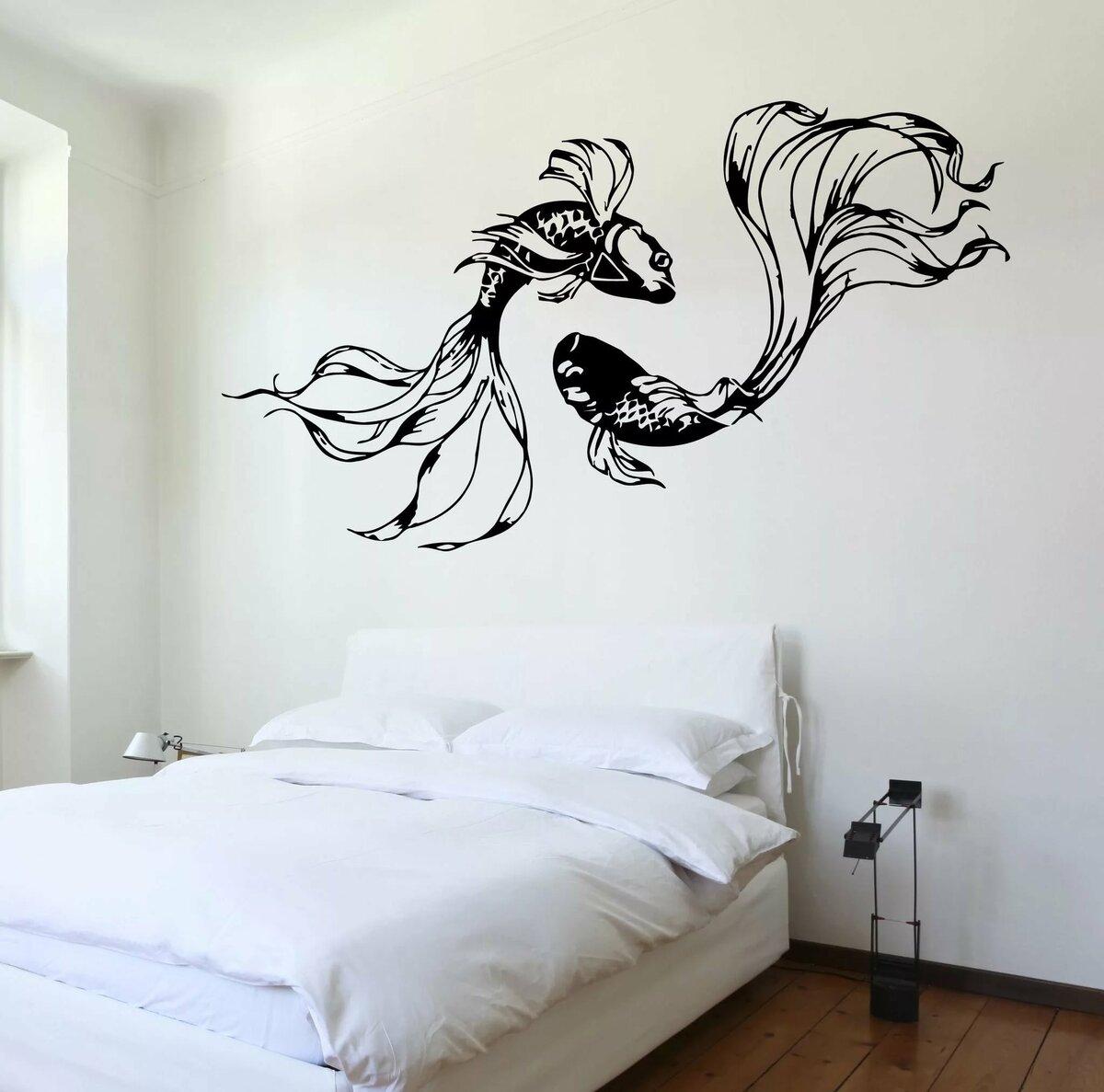 нее рисунки черно белые на стене в квартире своими руками фото заведения