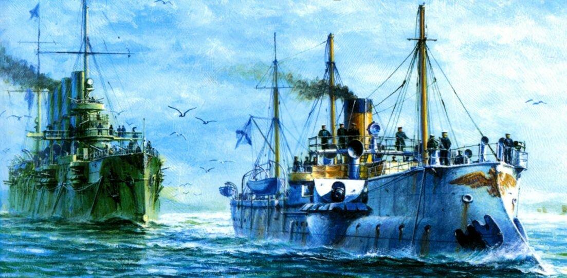 Крейсер варяг в картинах художников
