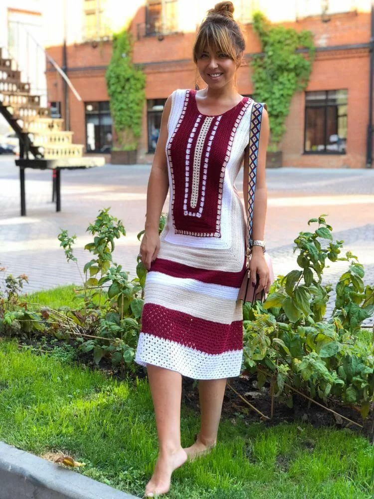 2131e6f3135 Купить Вязаное платье крючком в интернет-магазине itsyourshop.ru в ...