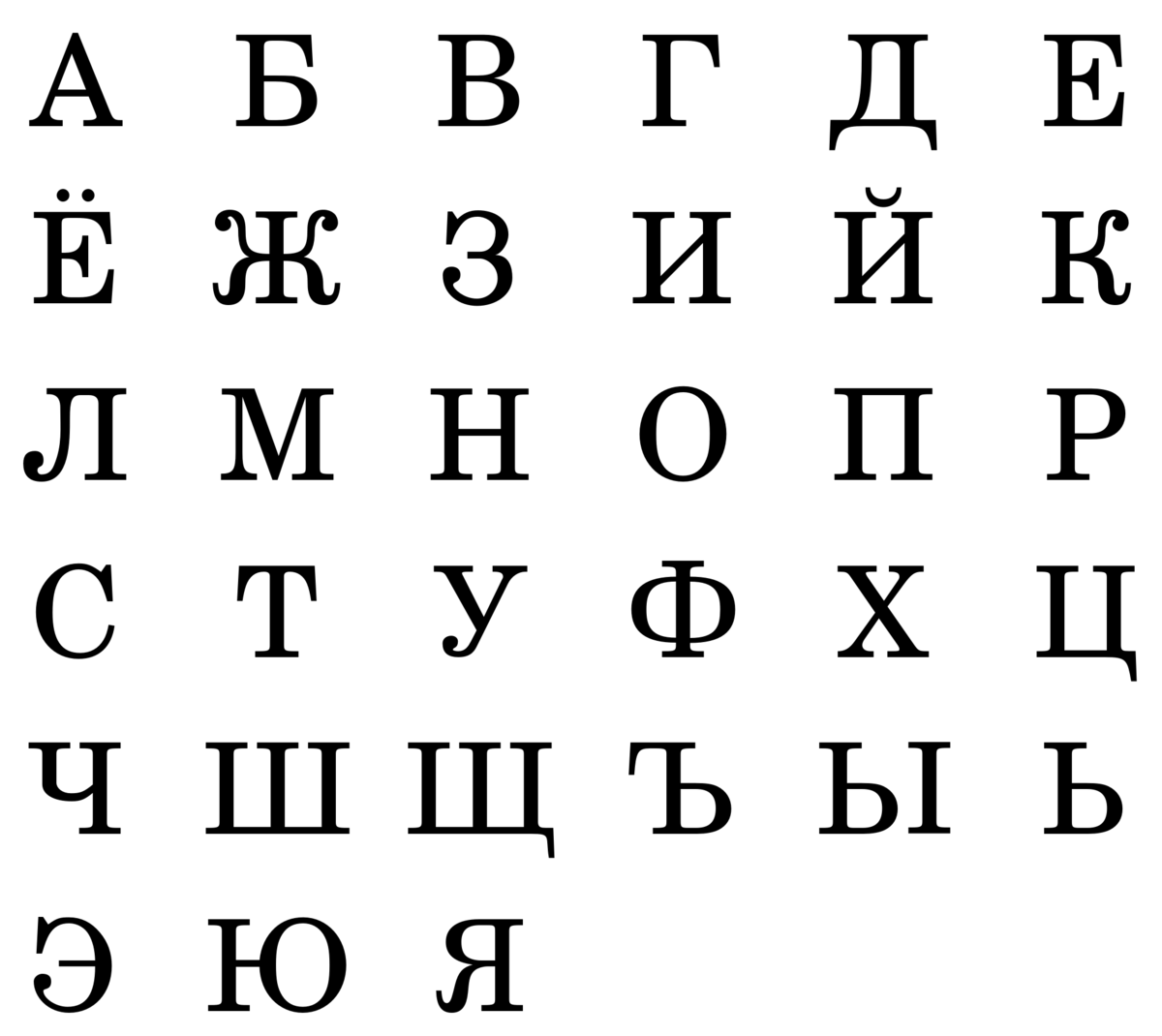 Картинка с алфавитом