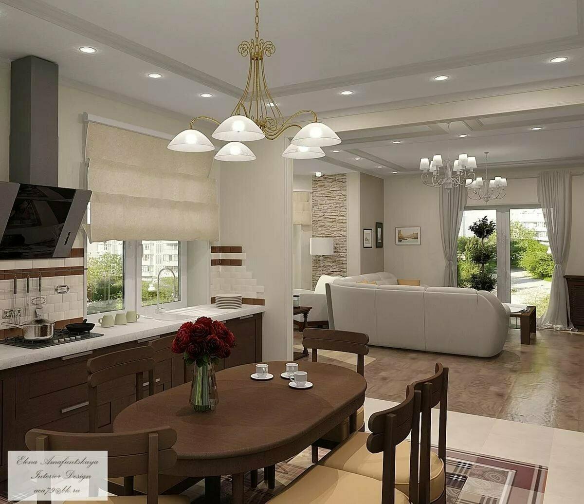 буду скромничать частный дом кухня совмещенная с гостиной фото праздник