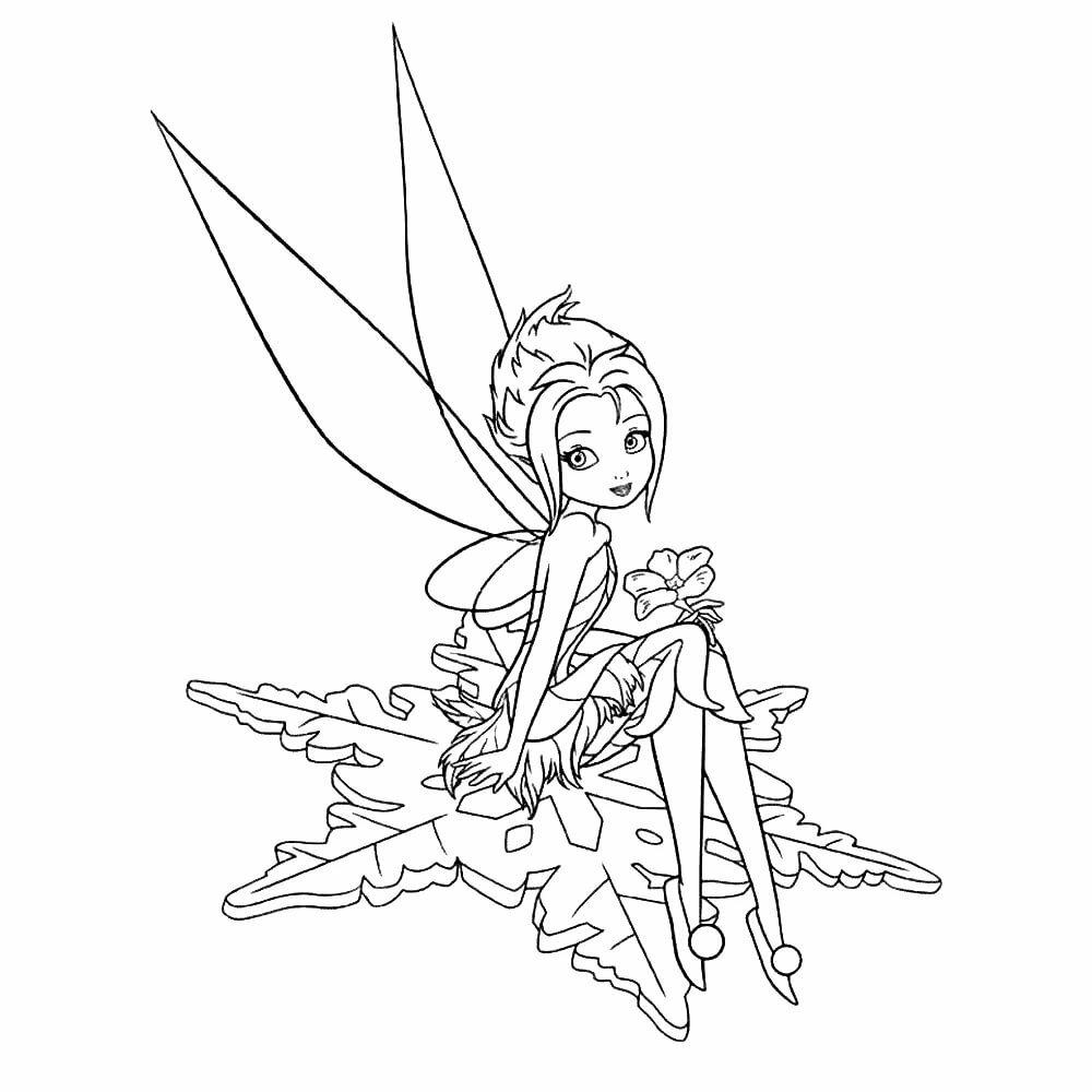 Раскраска фея зимняя