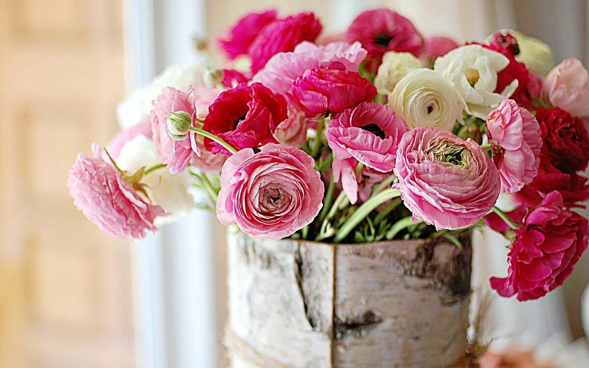 Открытки с днем рождения с садовыми цветами