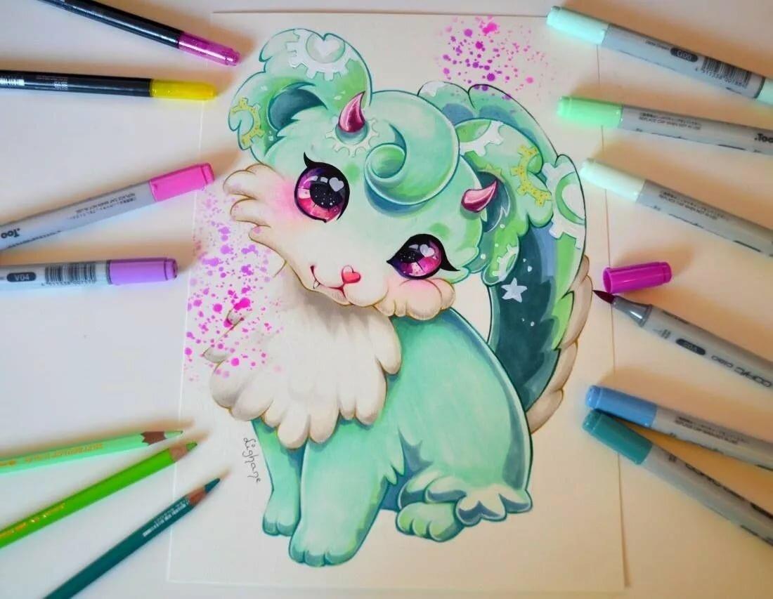 оказалось, красивые и милые картинки для срисовывания цветными карандашами прикольных картинок для
