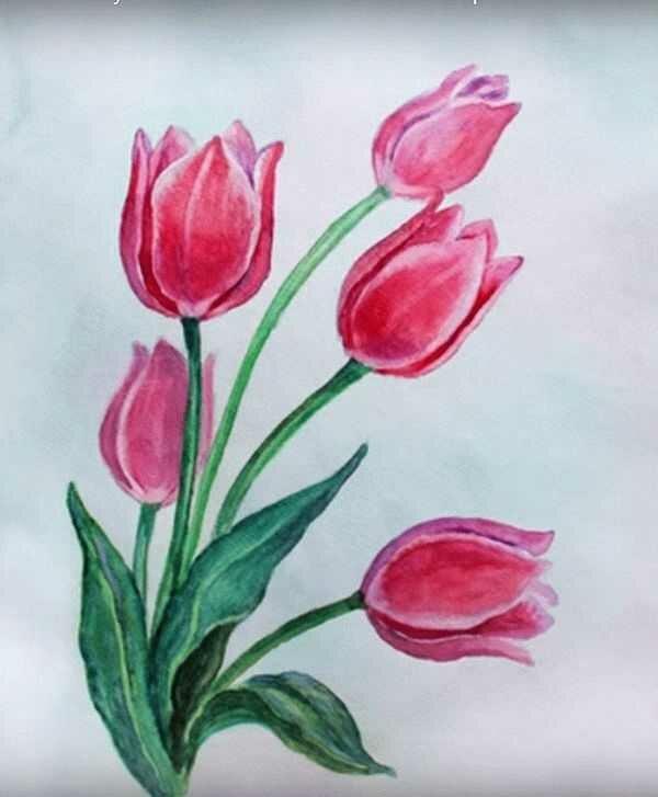 Открытка к 8 марта рисовать начальная школа