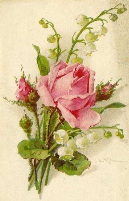 Мужу картинки, розы в открытках в советское время